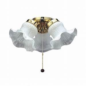 Fantasia tulip light ceiling fan kit
