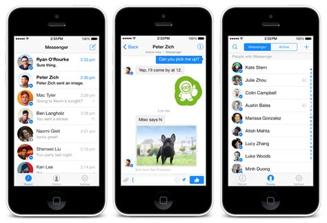 redesigned messenger for iphone launches with