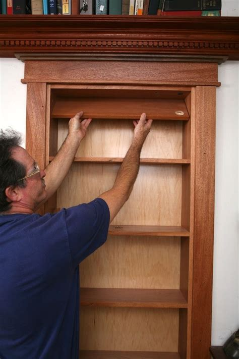 how do you make a door into a swinging bookcase bookcase building ideas woodworking projects plans