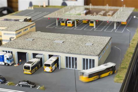 autonomous driving   bus depot