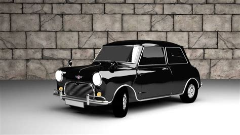 Classic Mini Cooper 3d Model
