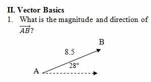 Find The Angle Between The Vectors Vector Worksheet Pdf With Key Focuses On Resultant