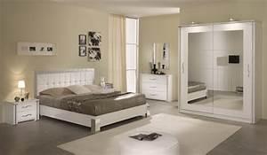 modele de chambre a coucher moderne dco noir et blanc With model chambre a coucher