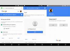 Google is testing signing into accounts using just your