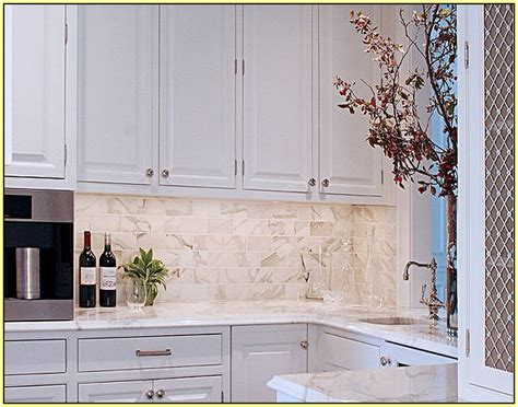 kitchen carrara marble beveled white subway tile backsplash kitchen carrara marble and beveled