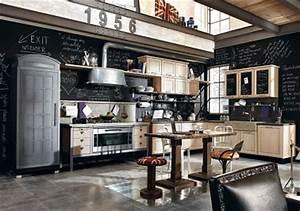 Decoration Industrielle Vintage : cuisine industrielle esprit vintage ~ Teatrodelosmanantiales.com Idées de Décoration