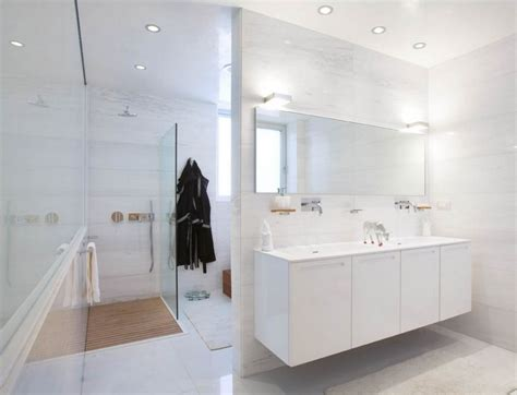 Bedroom & Bathroom: Exciting White Bathrooms For