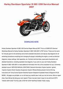 Harley Davidson Sportster Xl 883 1200 Service By