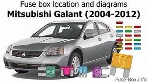 Fuse Box Location And Diagrams  Mitsubishi Galant  2004-2012