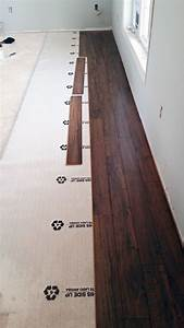Do it yourself floating laminate floor installation for How to put down hardwood floors