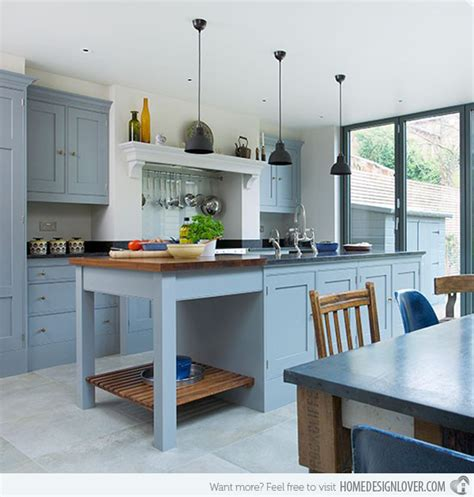 country kitchens with islands 16 nicely painted kitchen cabinets home design lover