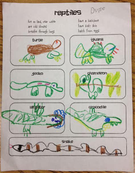 miss goes to kindergarten reptiles