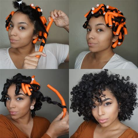 Rod Hairstyles Black Hair by Flexi Rod Set Heatless Curls Tutorial At