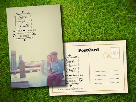 save the date postcard template 8 best images of save the date postcards rustic country rustic save the date postcards rustic