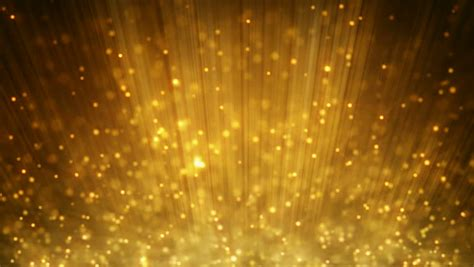 Bright Golden by Loopable Motion Background Rising Gold Particles Stock