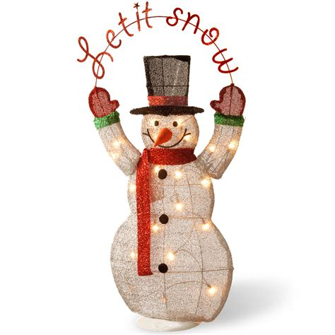 outdoor lighted snowman decorations lighted christmas snowman outdoor indoor decoration yard