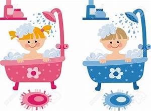 Kids Take A Shower Clipart - ClipartXtras