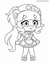 Gacha Coloring Pages Character sketch template