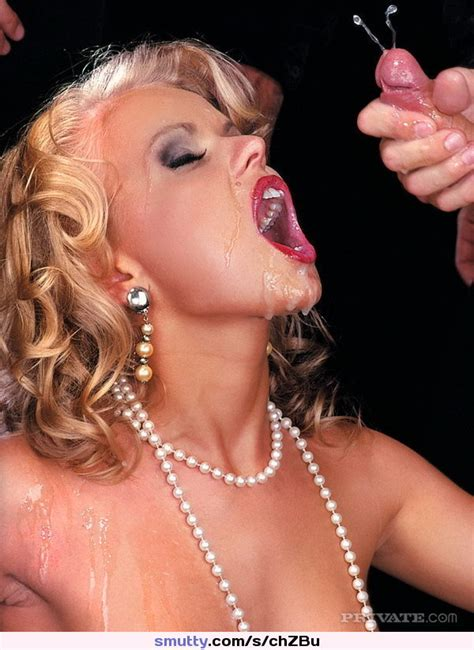 Cum Explosion In The Face Of A Rich Blonde Milf Facial