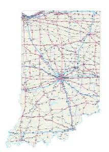 Indiana Map with Counties and Roads