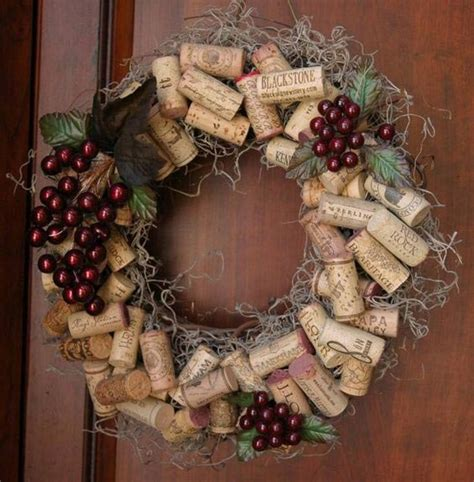 beautiful home decor items  wine corks