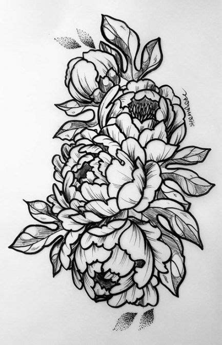 60 Trendy Flowers Black Illustration Tattoo Ideas #tattoo #flowers | ~ Flowers ~ | Doodle tattoo