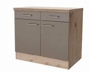 Unterschrank Küche 100 Cm : k chen unterschrank riva 2 t rig 100 cm breit bronze metallic k che k chen unterschr nke ~ Bigdaddyawards.com Haus und Dekorationen
