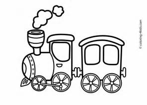 Free Coloring Pages Of Train Color Word