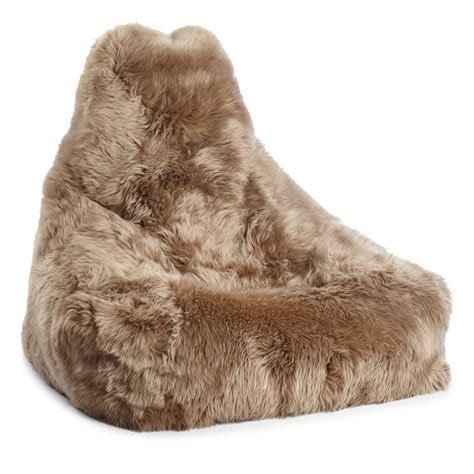 wool sheepskin beanbag chair furnish every season
