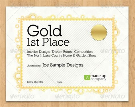 1st Place Certificate Template Free by 1st Prize Certificate Template 1st Prize Certificate