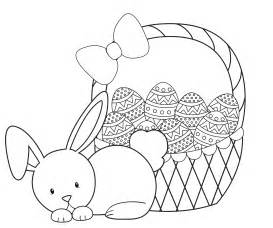 coloring page easter basket gallery