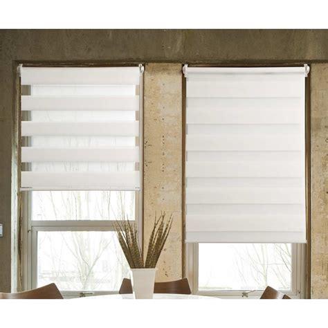 rideau fenetre cuisine store jour nuit tissu 100 polyester blanc 40x100cm