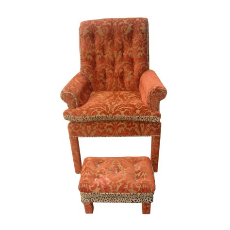 Ottoman Price by Vintage Traditional Lounge Armchair And Footstool Ottoman