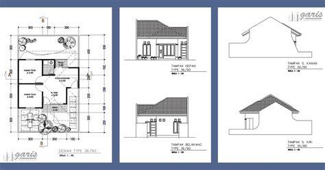 desain rumah pakai autocad contoh