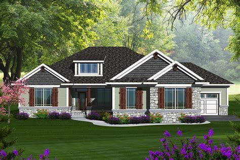 Ranch Style House Plan   3 Beds 4.5 Baths 4077 Sq/Ft Plan