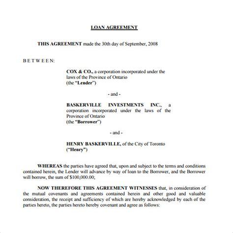 loan agreement samples  word