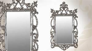 Miroir Baroque Argenté : miroir baroque argent style intriqu 122 cm ~ Teatrodelosmanantiales.com Idées de Décoration