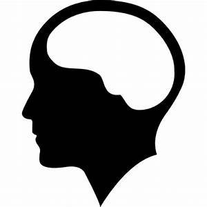 Brain inside human head Icons | Free Download