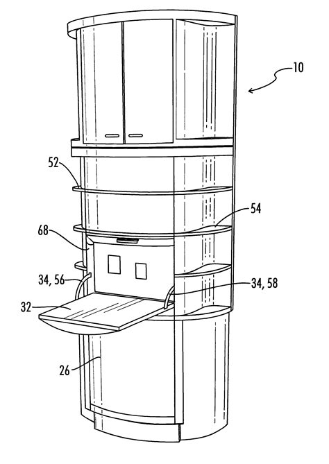 patent us6220681 armoire with built in desk patents