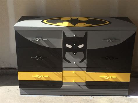 Batman Dresser With Chalkboard Paint