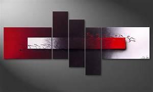 Tableau Salon Moderne : le tableau moderne opposites attract 180x80cm tableaux xxl ~ Farleysfitness.com Idées de Décoration