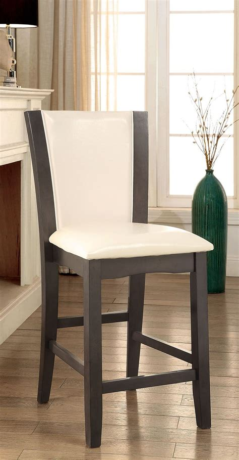 manhattan iii gray counter height chair set of 2 from