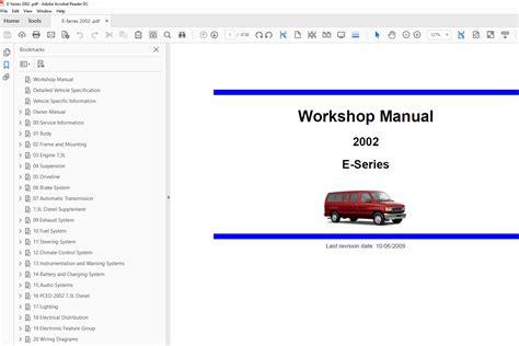 free auto repair manuals 2003 ford e150 windshield wipe control ford e series 2001 2004 factory repair manual