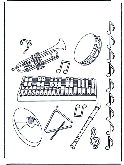 musikinstrumente malvorlage musik