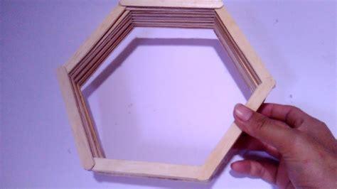 Rak Dinding Hexagonal cara hasilkan rak diy dari batang aiskrim desainrumahid