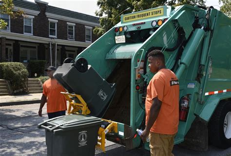 baltimore city   residents pick small  large trash