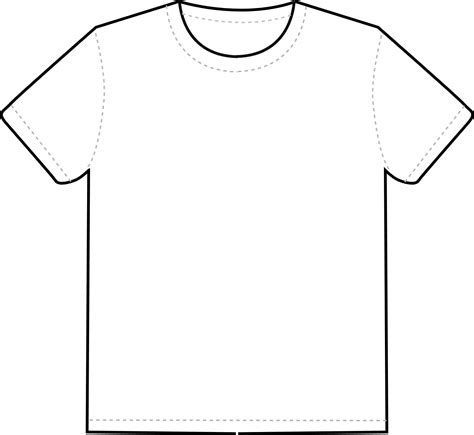 White T Shirt Template Blank White T Shirt Template Clipart Best