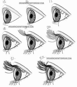 How To Draw Realistic Eyes From The Side Profile View