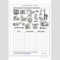 Vocabulary Worksheet  Animals Worksheet  Free Esl Printable Worksheets Made By Teachers