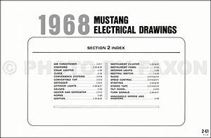 1968 Ford Mustang Wiring Diagrams 68 Original 11x17